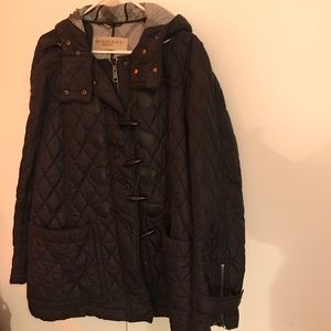 Burberry Black Coat Used XL in great condition